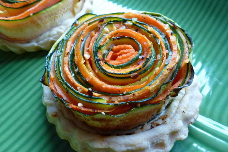 Courgette and carrot tart image