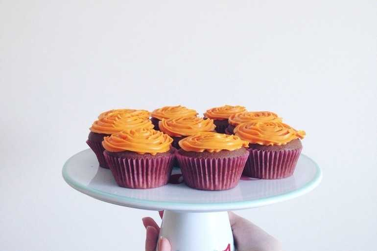Chocolate Orange Melt in the Middle Cupcakes image