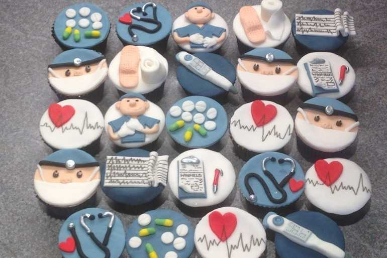 Medical themed cupcakes image