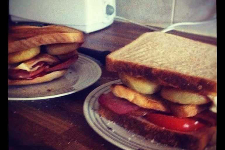 His 'n' Hers breakfast club sandwiches image