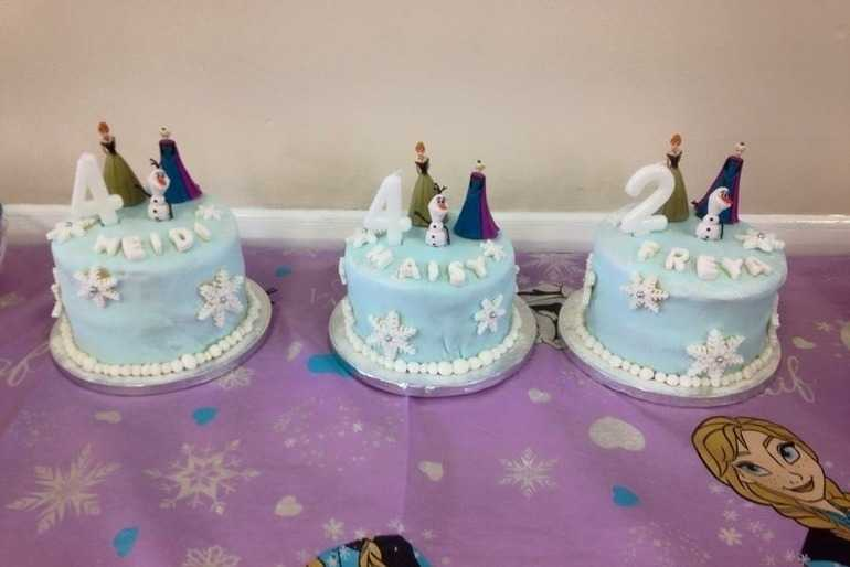 Frozen themed birthday cakes image