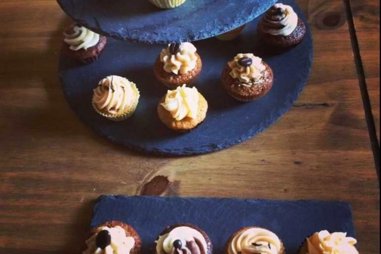 Mini afternoon tea cupcakes , coffee, chocolate &caramel, earl grey and carrot  image