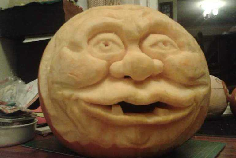 old man pumpkin image