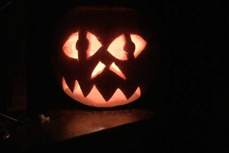 Gracie's Scary Pumpkin image