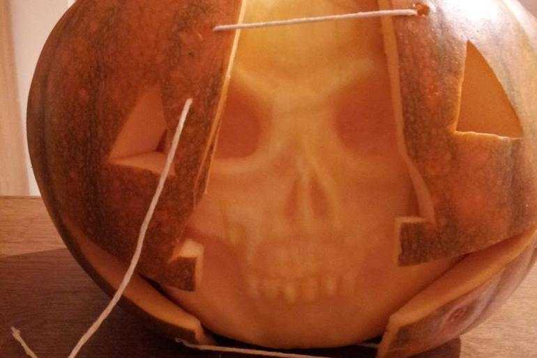 Our skull pumpkin image