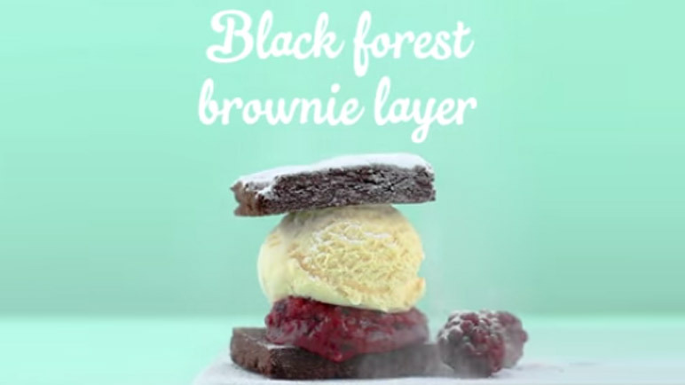 Black forest brownie layer