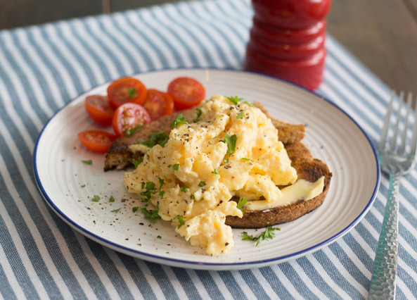 How to make prefect scrambled egg