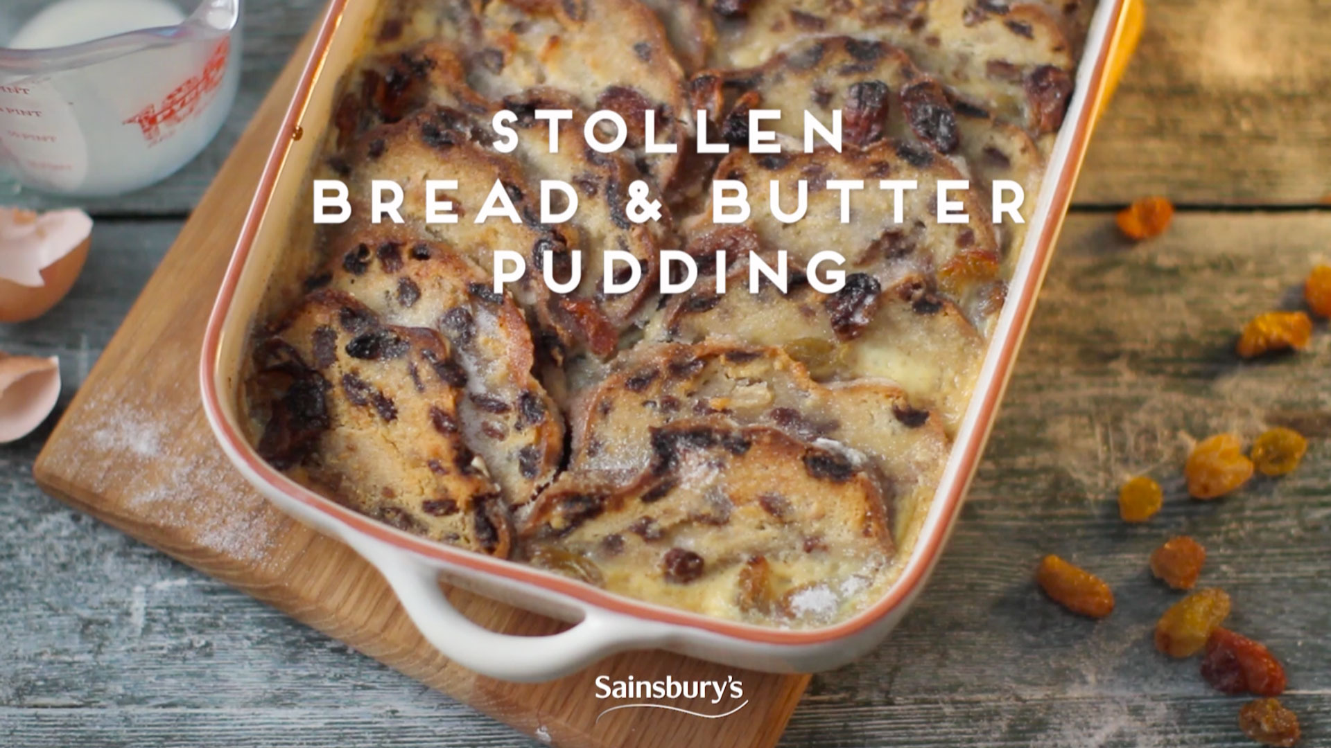 Stollen Bread & Butter Pudding