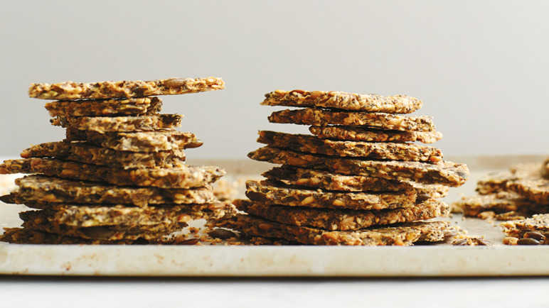 Anna Jone's seeded crackers